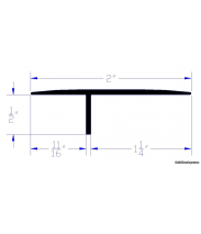 Extra Wide Offset Tee Molding   CAD Drawing